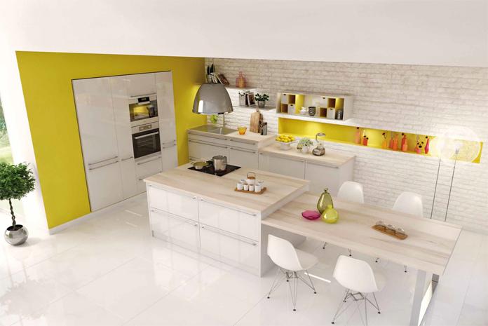 Une cuisine pratique et lumineuse for Concevoir une cuisine pratique