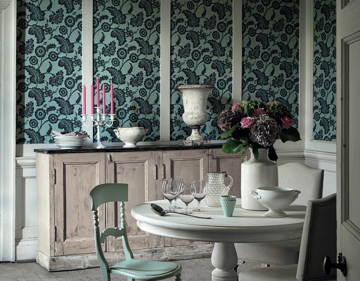Papier peint salon noir et blanc - Installer du papier peint ...